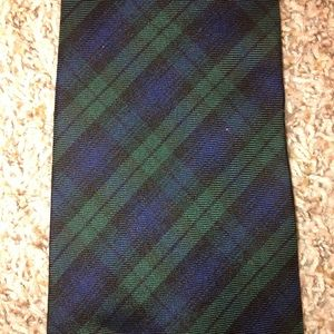 Vintage Burberry Blackwatch Plaid Tie